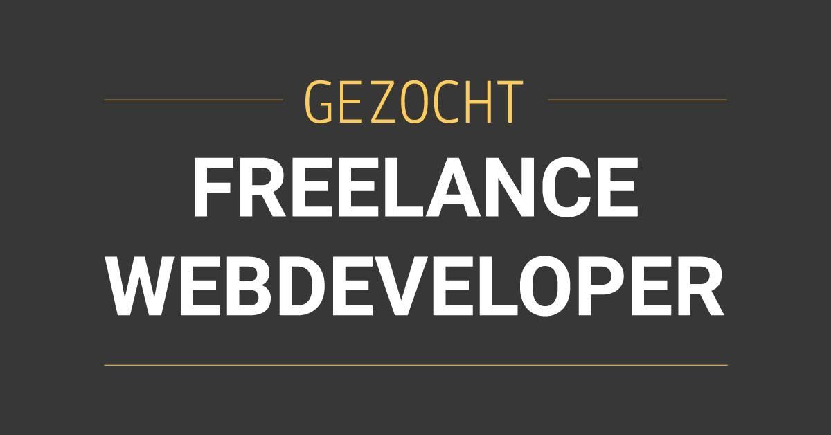 Vacature Freelance Webdeveloper