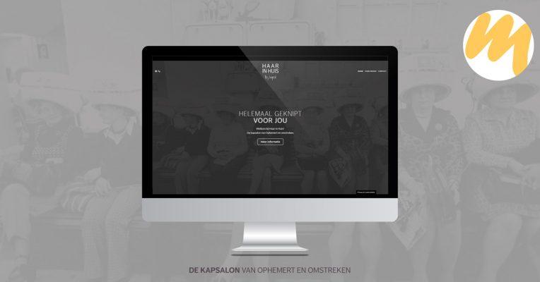 Webdesign Tiel | Haar in Huis Ophemert | Grafisch Ontwerp door Esmy Media Design | Webdesign Tiel