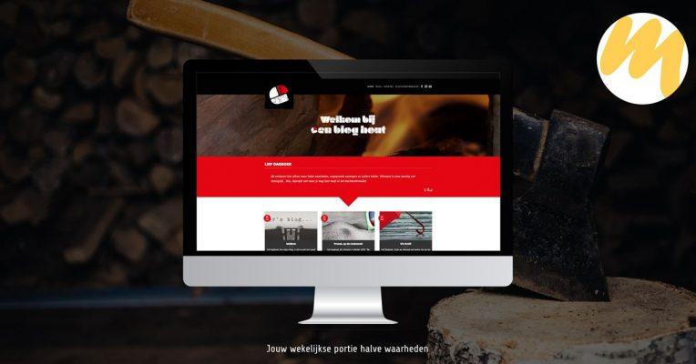 Een Blog Hout | Voor al uw maatwerk woondecoratie | Logo ontwerp door Esmy Media Design in Tiel