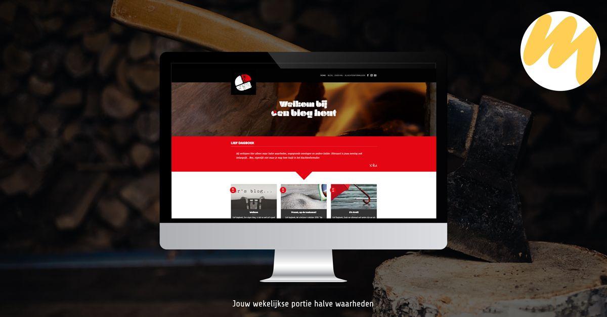 Een Blog Hout | Voor al uw maatwerk woondecoratie | Logo ontwerp door Esmy Media Design | Webdesign Gelderland