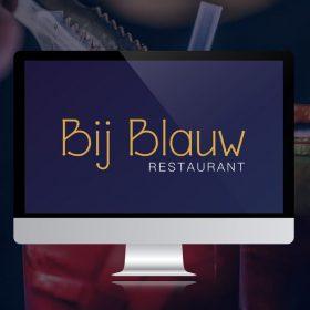 Restaurant Bij Blauw te Wageningen | Huisstijl en webdesign door Esmy Media Design te Tiel