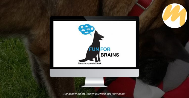 Hondenspeelotheek Fun for Brains | Logo ontwerp door Esmy Media Design