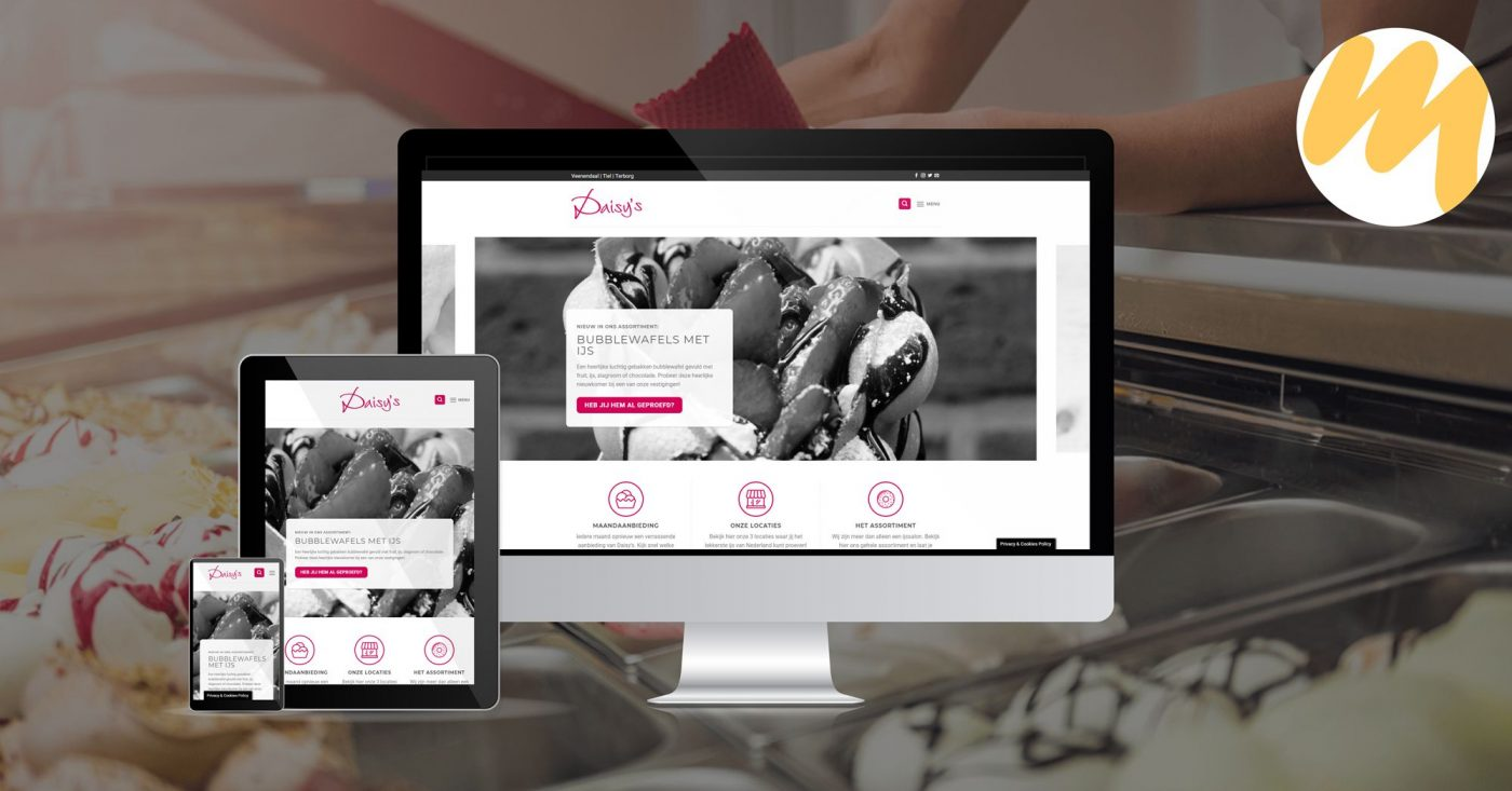 Webdesign Tiel | Website ijssalon Daisys | Webdesign - Esmy Media Design
