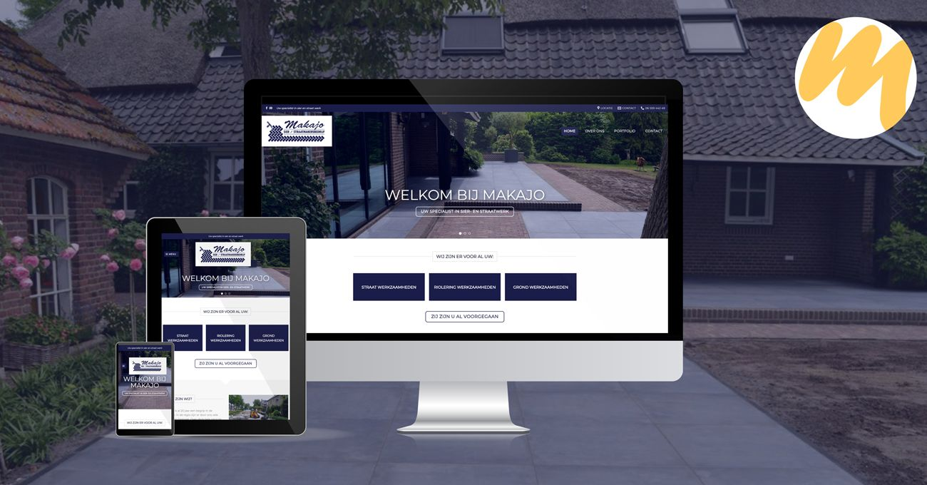 Website straatmaker Makajo | Webdesign Tiel - Esmy Media Design