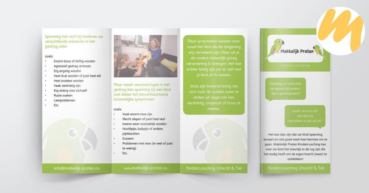 Makkelijk Praten te Tiel | Flyer door Esmy Media Design | Grafisch ontwerp Tiel