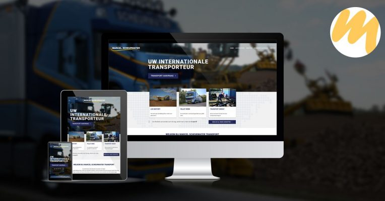 Website ontwerp | Marcel Scheurwater Transport | Grafisch Ontwerp door Esmy Media Design | Webdesign Tiel