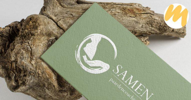 Samen Paardencoaching, logo ontwerp, grafisch design, Esmy Media Design Betuwe, Gelderland, Tiel
