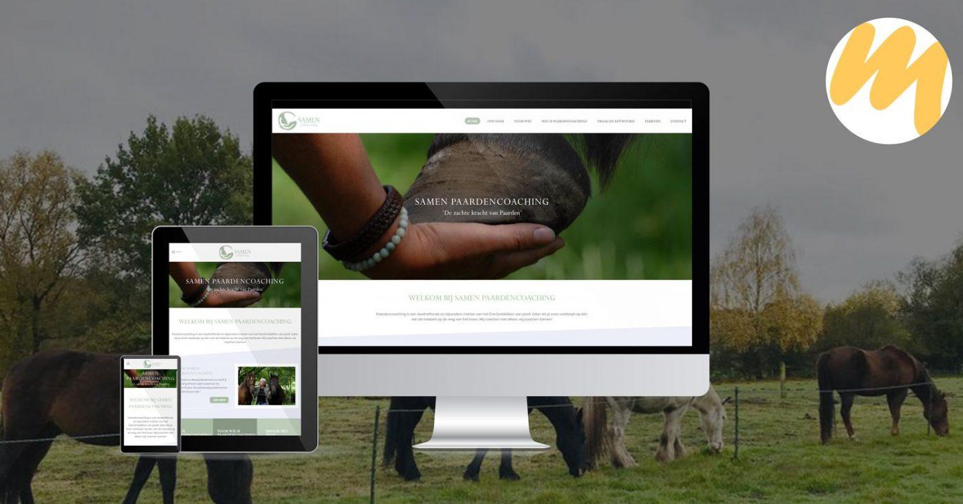 Samen Paardencoaching, website ontwerp, grafisch design, Esmy Media Design Betuwe, Gelderland, Tiel