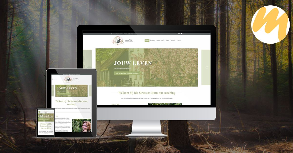 Ida de Wit | Stress burn-out coach, webdesign Tiel, website ontwerp Haaften, grafisch design, Esmy Media Design Betuwe, Haaften, Gelderland, Tiel