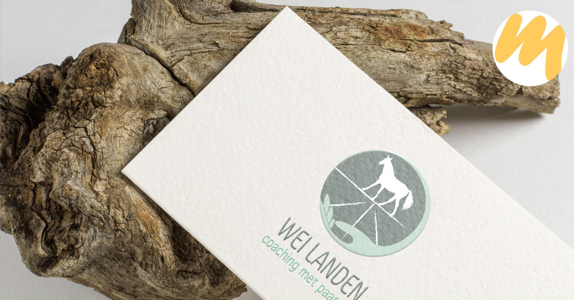 Wei Landen - Coaching met paarden, logo ontwerp, grafisch design, Esmy Media Design Betuwe, Gelderland, webdesign Tiel