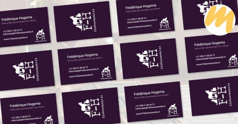 Visitekaartjes | F-Hbioresonantie | Webdesign door Esmy Media Design