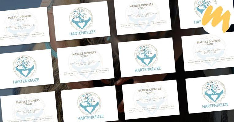 Visitekaartjes Tiel | Hartenkeuze, logo ontwerp, grafisch design, Esmy Media Design Betuwe, Webdesign Gelderland