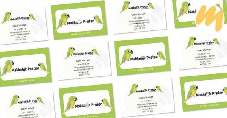 Makkelijk Praten te Tiel | Logo en visitekaartjes door Esmy Media Design | Grafisch ontwerp Tiel