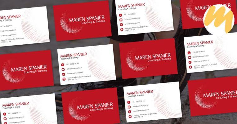 Visitekaartjes Tiel | Maren Spanjer Coaching & Trainingen, Logo ontwerp, grafisch design, Esmy Media Design Betuwe, Gelderland, Webdesign Tiel