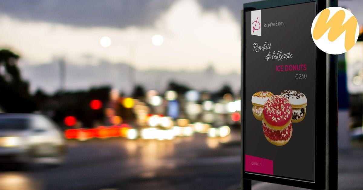 Poster voor Ijssalon Daisys's te Tiel | Grafisch design - Esmy Media Design | Webdesign Tiel