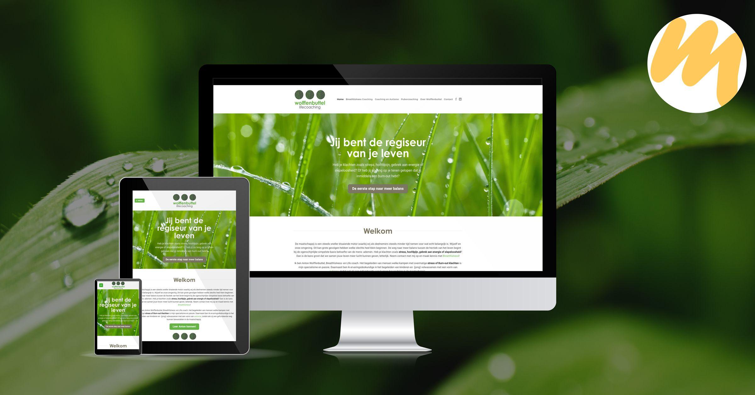 Wolffenbuttel LifeCoaching webdesign Tiel, grafisch design, Esmy Media Design Betuwe, Gelderland