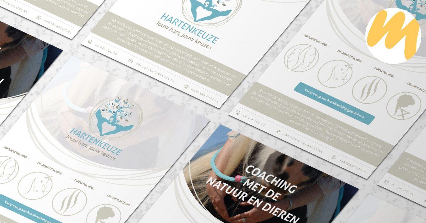 Hartenkeuze, Flyer ontwerp, grafisch design, Esmy Media Design Betuwe, Gelderland, Tiel
