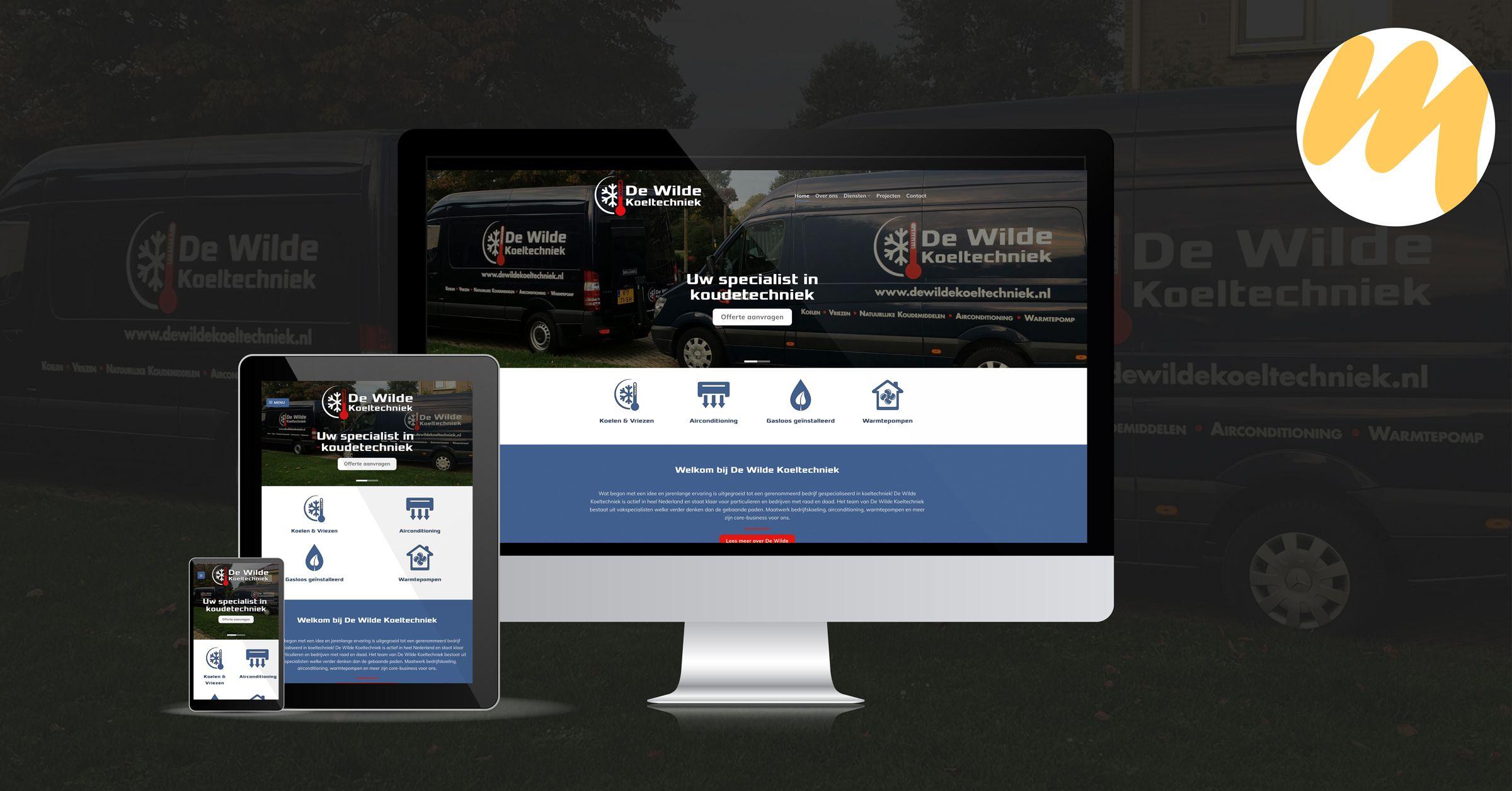 De Wilde Koeltechniek te Tiel | Webdesign door Esmy Media Design te Tiel