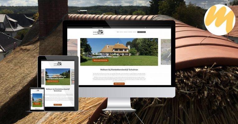Rietdekkersbedrijf Scholman Varik | webdesign Tiel, grafisch design, Esmy Media Design Betuwe, Gelderland