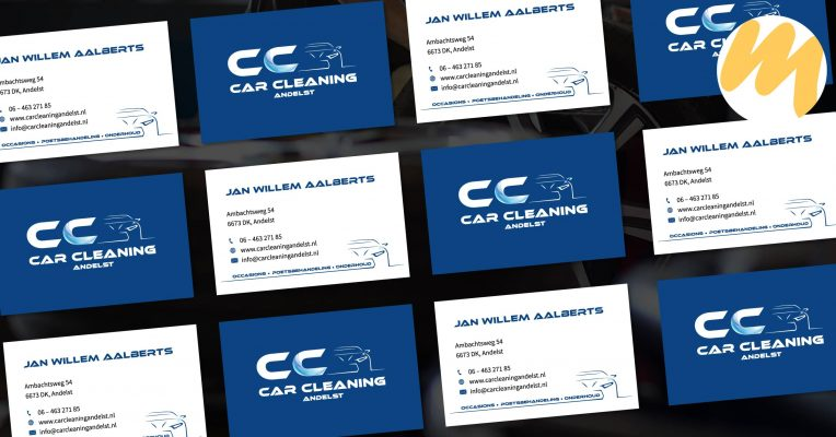 Visitekaartjes Tiel | Car Cleaning Andelst, logo ontwerp, grafisch design, Esmy Media Design Betuwe, Webdesign Gelderland