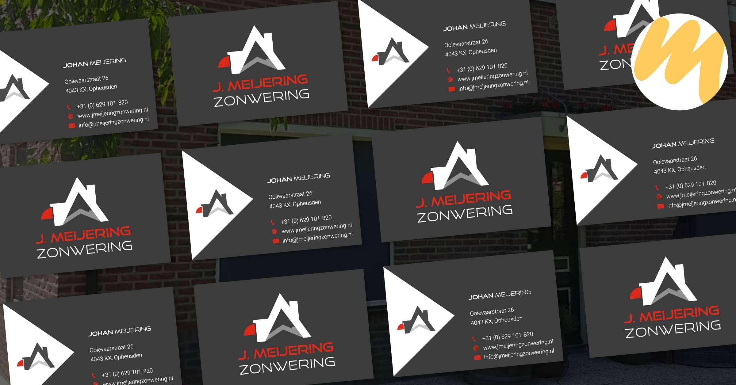 Visitekaartjes   J. Meijering Zonwering   Grafisch Ontwerp door Esmy Media Design   Webdesign Tiel