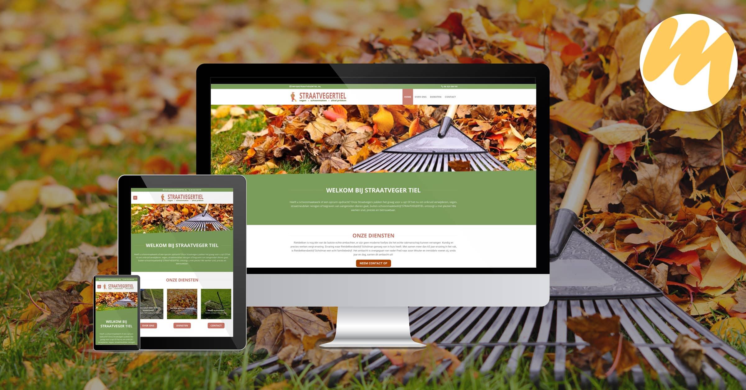 Straatveger Tiel | Webdesign door Esmy Media Design te Tiel