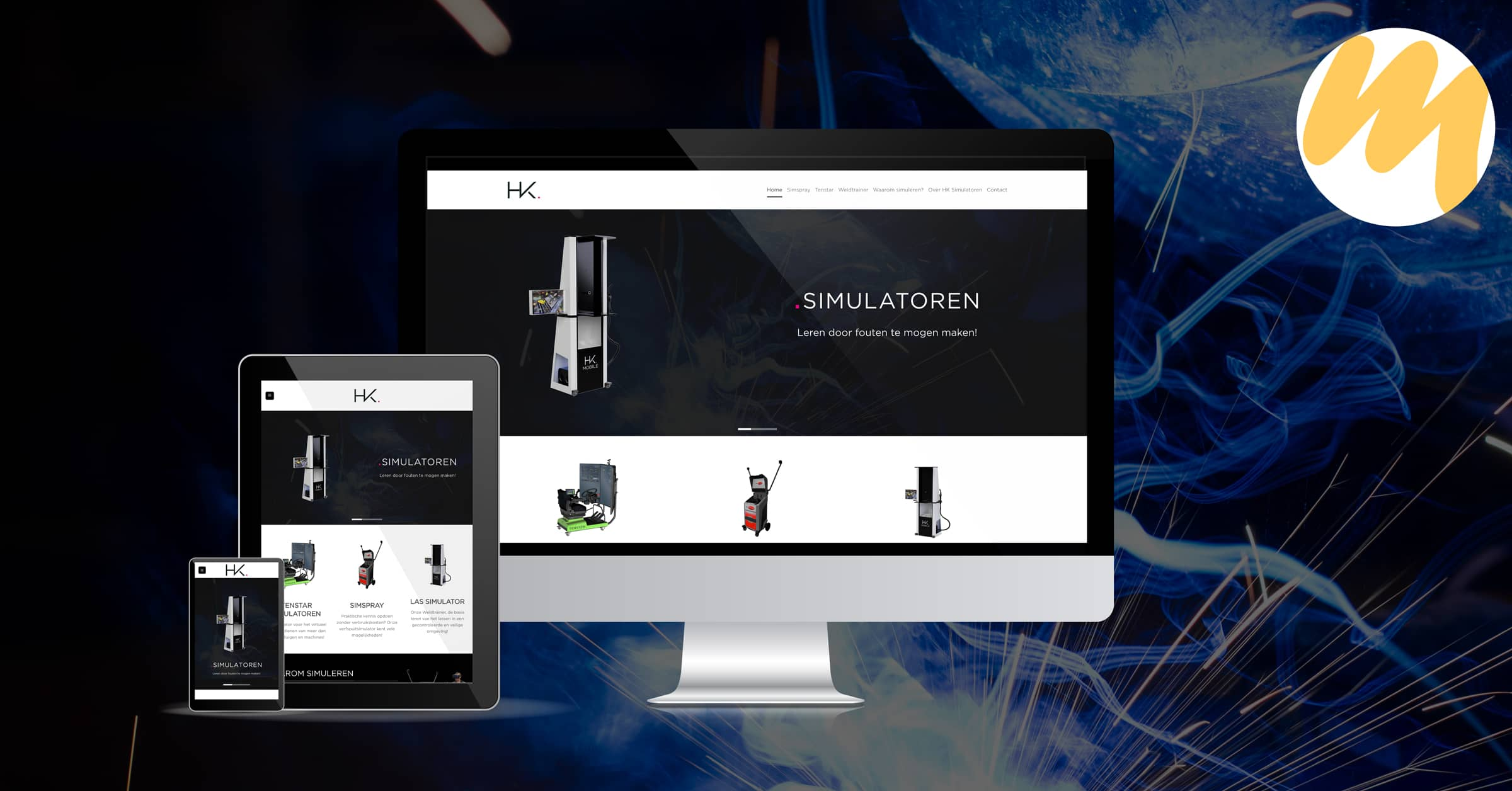 HK Simulatoren Ophemert | Webdesign door Esmy Media Design te Tiel