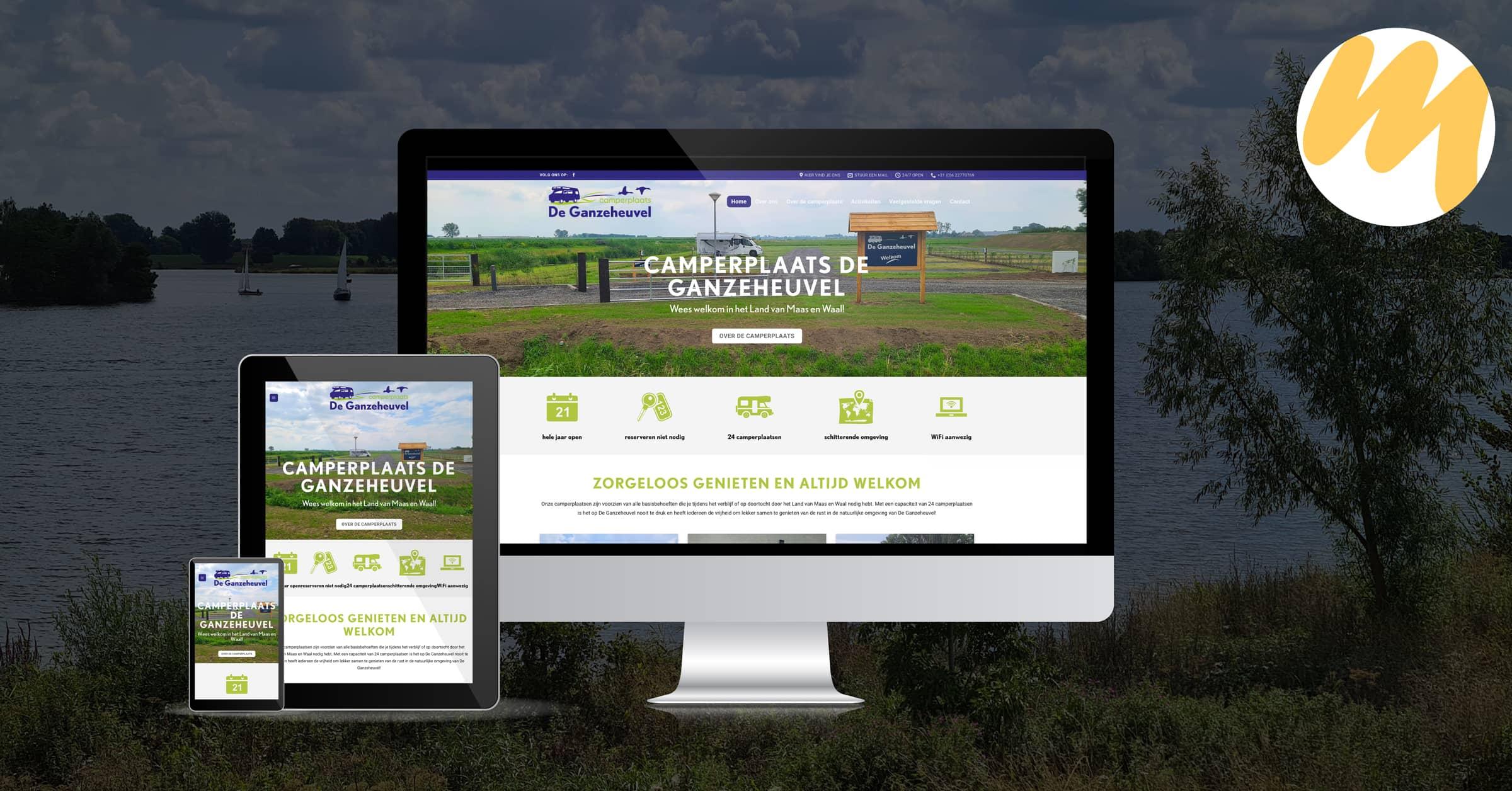 Website | Camperplaats De Ganzeheuvel | Dreumel
