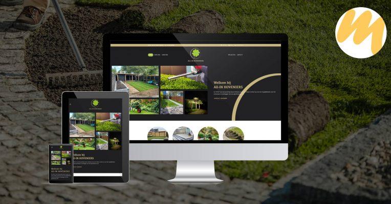 Website | All-In Hoveniers Tiel | Webdesign Esmy Media Design Tiel