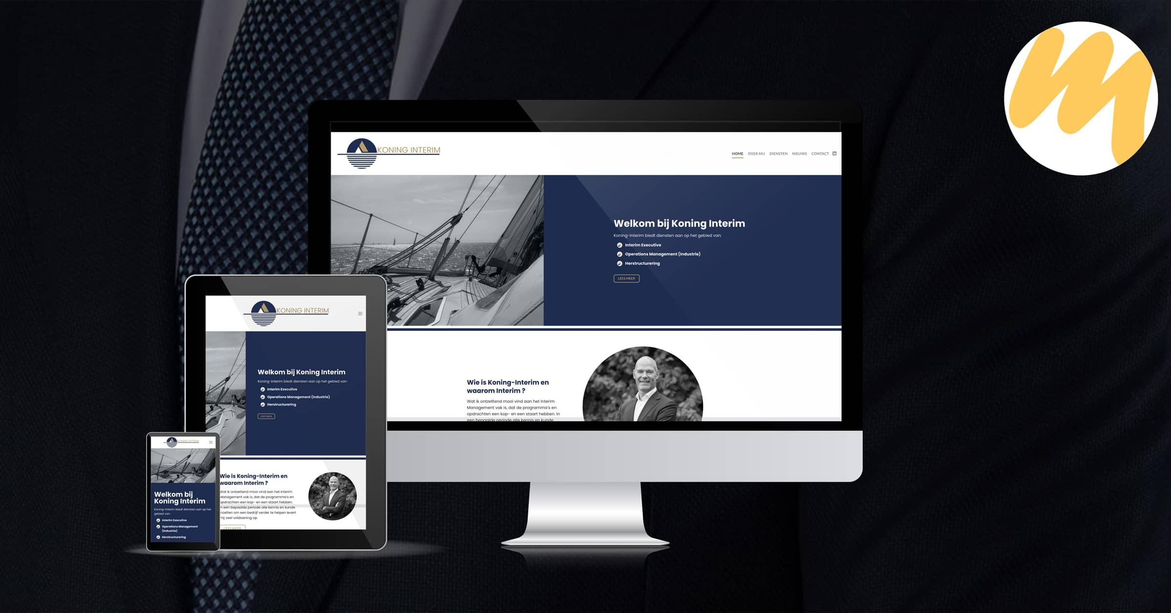 Website | Koning Interim Zoelen | Webdesign door Esmy Media Design te Tiel