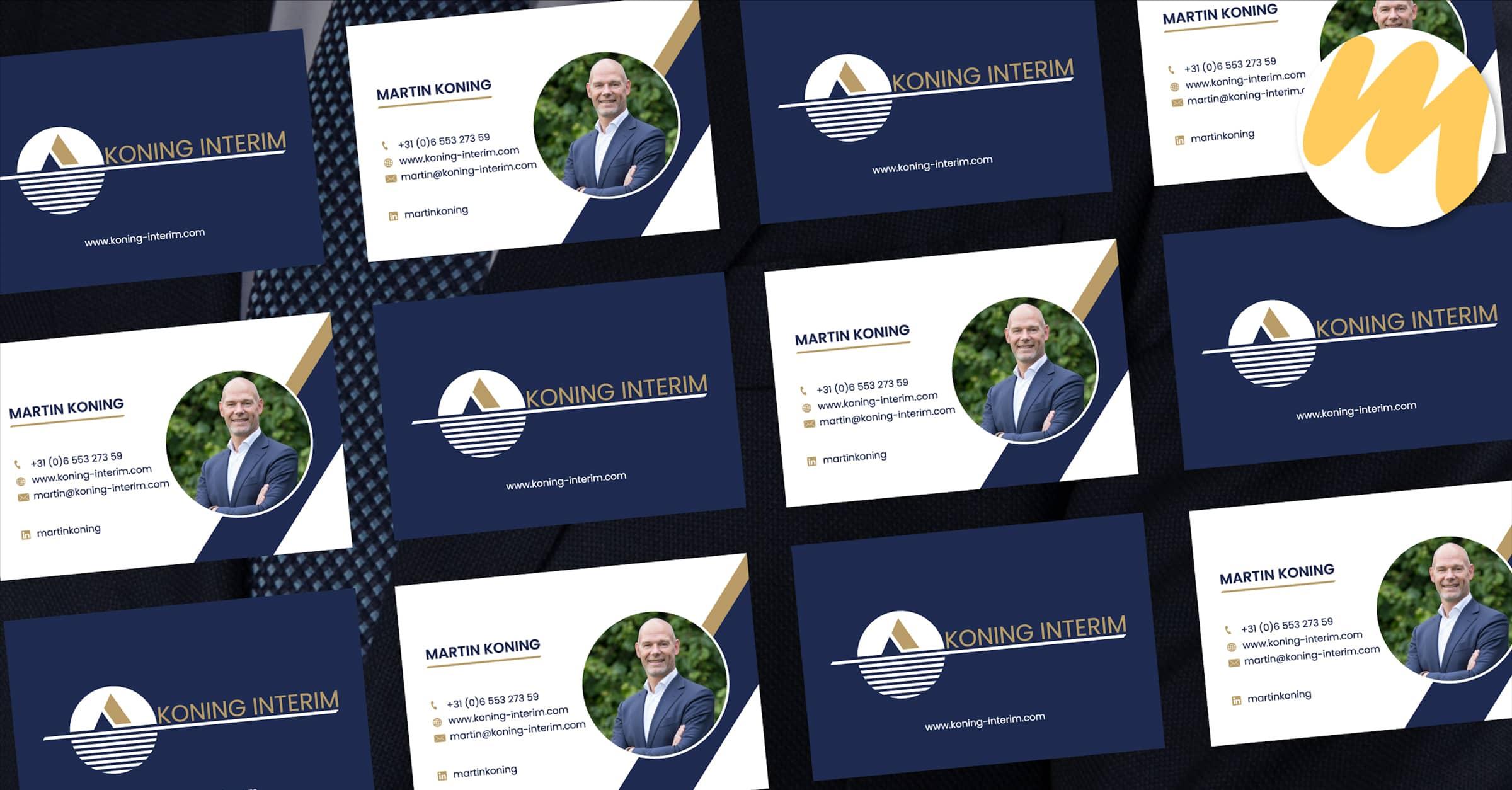 Visitekaartjes | Koning Interim Zoelen | Webdesign door Esmy Media Design te Tiel